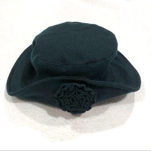 Vintage 90's Felt Bucket Hat Retro 'Blossom' style